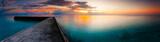 fantastic panorama dramatic dawn landscape sea beach tropical island Maldives - 107003464