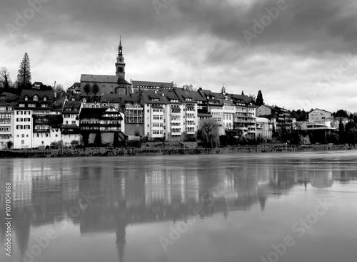 Foto op Aluminium New York Laufenburg im Kanton Aargau in der Schweiz