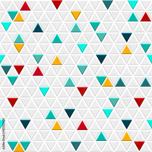 Fototapeta Seamless pattern of small triangles
