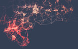 Fototapety Abstract polygonal space low poly dark background