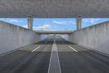 Fototapety Autobahn Unterführung 7