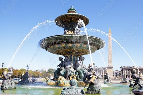Famous fountain Place de la Concorde, Paris, france, Obelisk of Luxor Photo by david_franklin