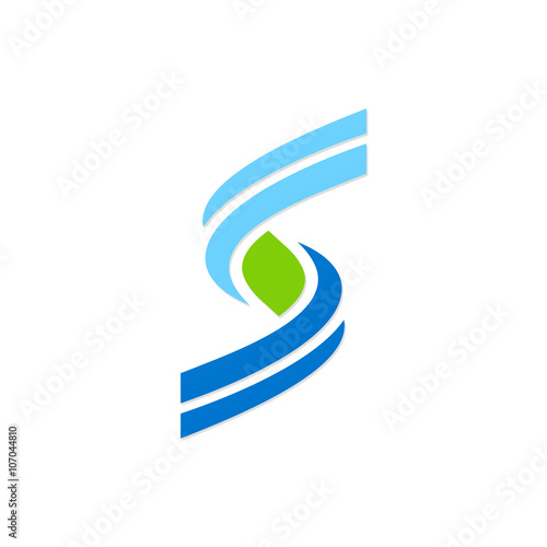 """""""letter S Wave Logo"""" Stock Image And Royalty-free Vector"""