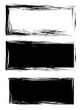 Grunge black frame vector background set