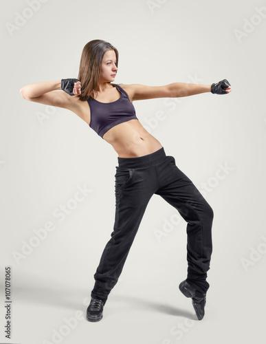 Plexiglas Girl dancer leaning back