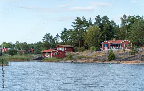 Poster Sommarstugor nära vattnet i Stockholms skärgård