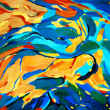 decorative abstract picture for interior, illustration