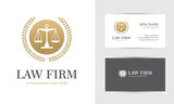 Golden law logo with scales - 107094270