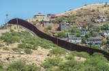 Border fence looking from Nogales Arizona into Nogales Sonora Mexico