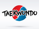 Taekwondo text, brush, graphic vector.