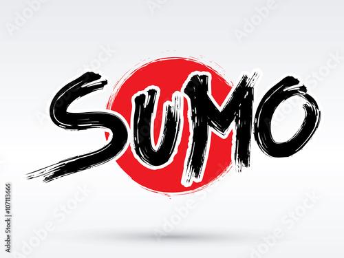 Fototapeta Sumo text, brush, graphic vector.