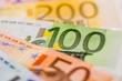 Leinwanddruck Bild - Viele verschiedene Euro-Geldscheine