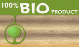 Bio product headline and tree symbol