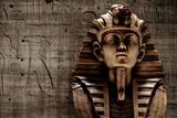 Stone pharaoh tutankhamen mask - 107172679