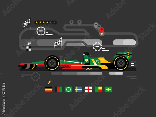 Deurstickers F1 Motorsport formula one