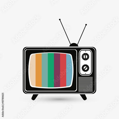 Television icon design, vector illustration