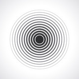 Fototapety Concentric circle elements. Vector illustration for sound