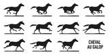 Cheval au galop - décomposition - 107193084