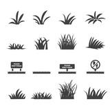 Fototapety grass icon set