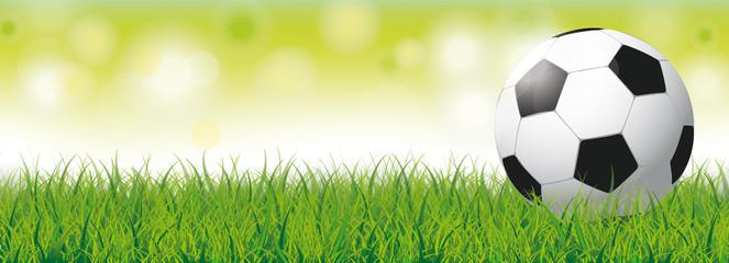 Football Grass Bokeh Green Header