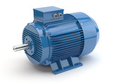 Blue electric motor - 107220281