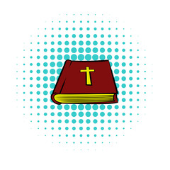 Bible book icon, comics style