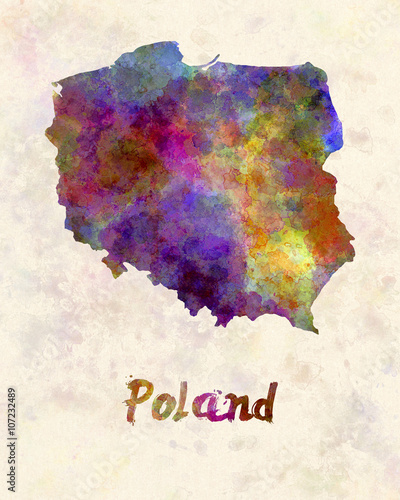 Poland in watercolor - 107232489