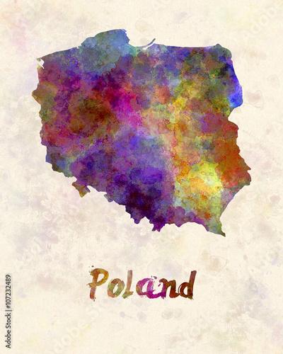 Poland in watercolor - 107232489