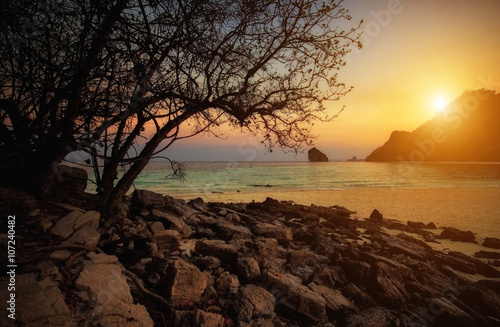 Sunset beach at krabi Thailand © phaitoon