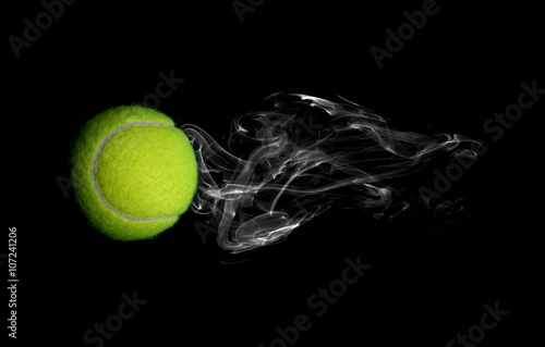Tennis with smoke on black background Tableau sur Toile