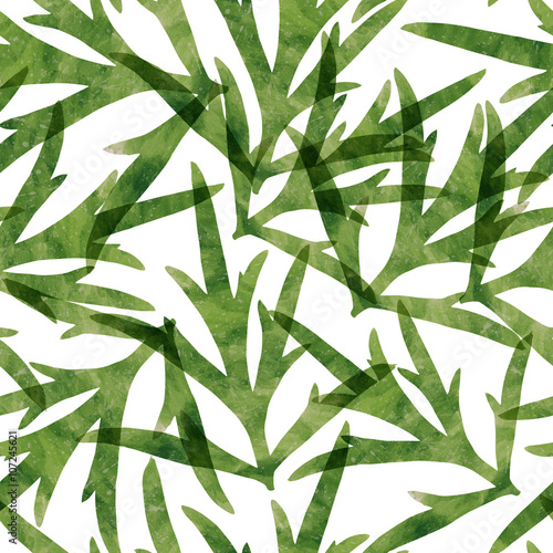 Watercolor plant seamless pattern - 107245621