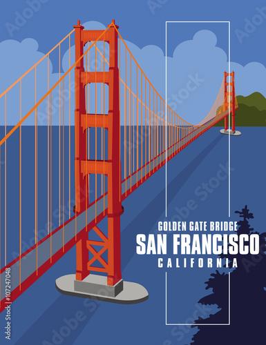 Poster puente golden gate de san francisco