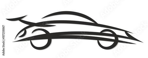 Naklejka Logo of the fast car.