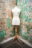 mannequin dress form vintage look grunge background