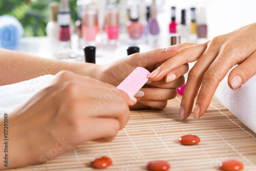 Obraz na Szkle Manicure procedure