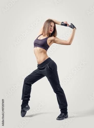 Plexiglas Front view of girl dancer