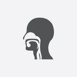 Throat icon of vector illustration for web and mobile