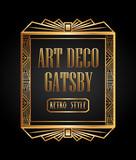 Fototapety art deco element gatsby design