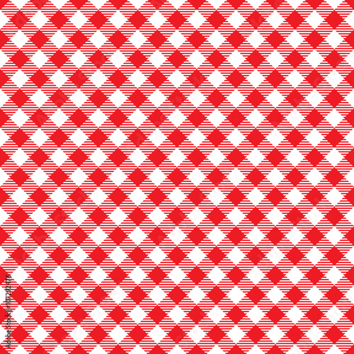 Tuinposter Stof Seamless Red Checkered Plaid Fabric Pattern Texture