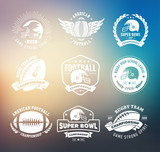 Rugby logo vector set, Football badge logo template - 107302431