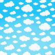 clouds design over sky background vector illustration - 107308270