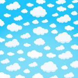 clouds design over sky background vector illustration - 107308270