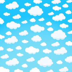 clouds design over sky background vector illustration