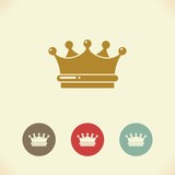 Crown icon. Vector Illustration