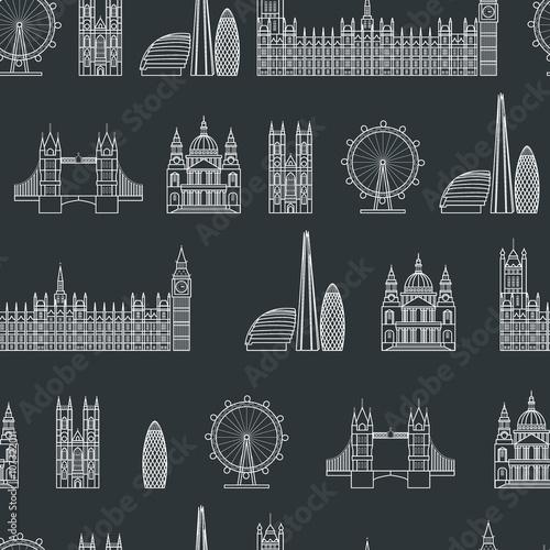 Tapeta England seamless Pattern 1