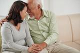 Senior Asian couple enjoying each others company