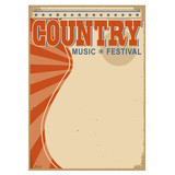 Country music background with text.Vector old poster