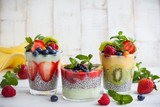 Chia and berry smoothies