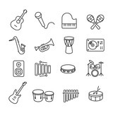 Fototapety Musical Instruments Icons Collection