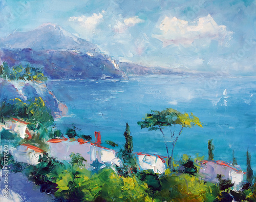 Art Oil Painting Picture Sea Summertime